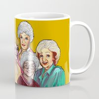 golden girls Mugs featuring Golden Girls by Minerva Torres-Guzman