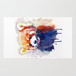 Red Panda Portrait Rug