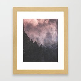 Forest of Trees with a Smoke Filled Sky Framed Art Print