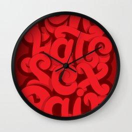 Love - Hate - Sex - Pain Wall Clock