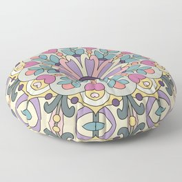 Happiness is Now Mandala Floor Pillow