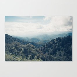 misty mountain morning Canvas Print