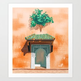 Mughul Entrance #painting #travel Art Print