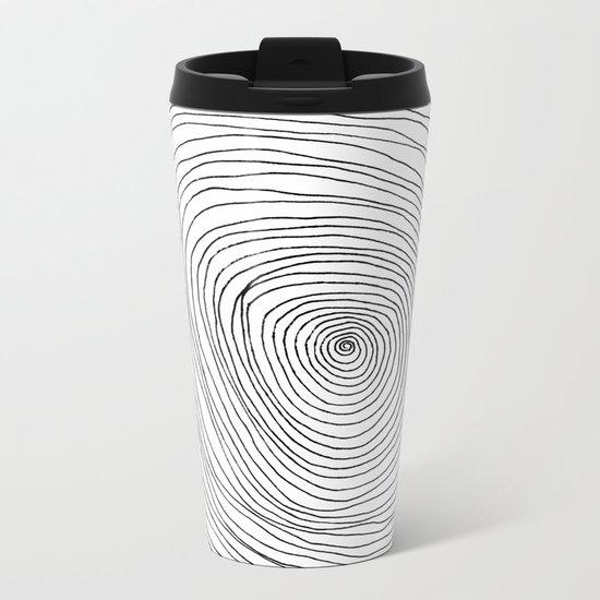 Spiral Rings Metal Travel Mug