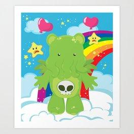Cthulhu Care Bear Art Print