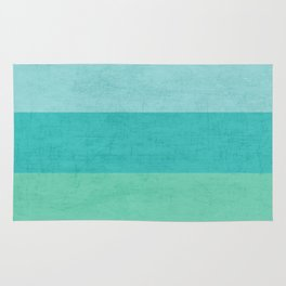 three stripes - teal Rug