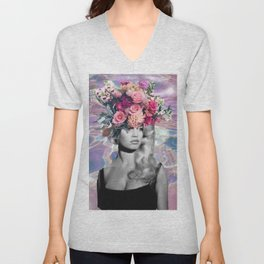 Bardot In A Bouquet Unisex V-Neck