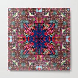 291 multicolored aqua  red blue Metal Print