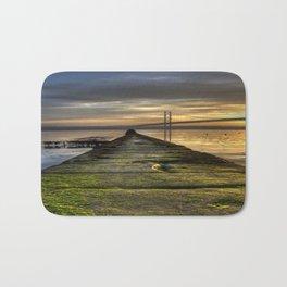 The Forth Road Bridge as the Sun Sets Bath Mat
