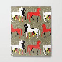 March of the Arabians Metal Print