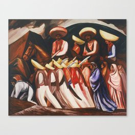 Mexican Revolution Zapatistas — Zapata's followers on the march painting by Jose Clemente Orozco Canvas Print