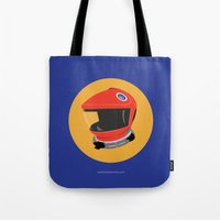 2001 a space odyssey Tote Bags featuring Dave's Helmet - 2001: A Space Odyssey by Matt Dunne