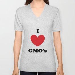 I Love GMO's Unisex V-Neck