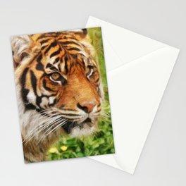 Tiger Against Summer Grasses Stationery Cards