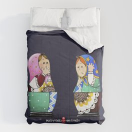 MATRYOSHKA CONFUSED Comforters