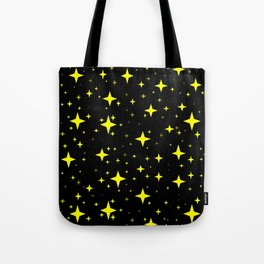 Bright Yellow Stars in Space , Cristmas Stars Tote Bag