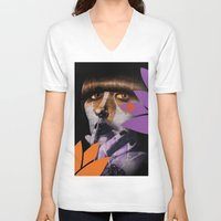 "karen V-neck T-shirts featuring ""Karen O"" by Samy Vincent"