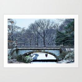Snowy Central Park Art Print