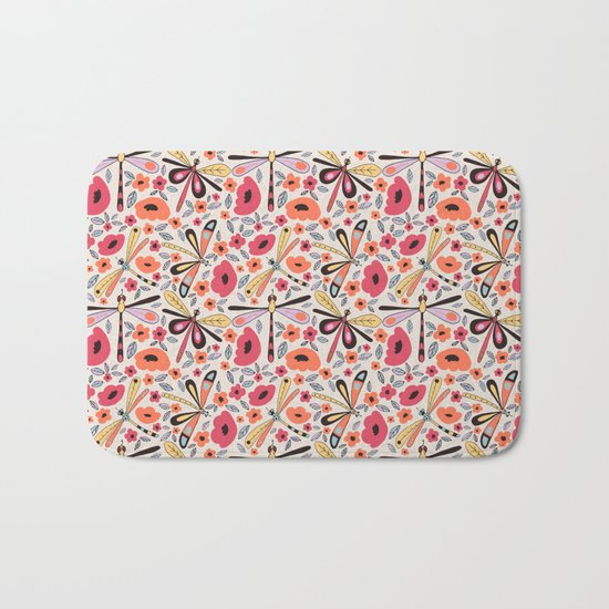 Dragonflies bloom Bath Mat