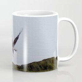 Osprey In Flight on the Ocean Coffee Mug
