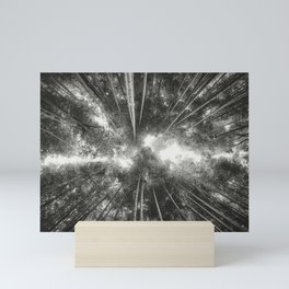 Bamboo Forest (Black and white) Mini Art Print