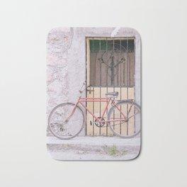Red Bike/Yellow Door Bath Mat