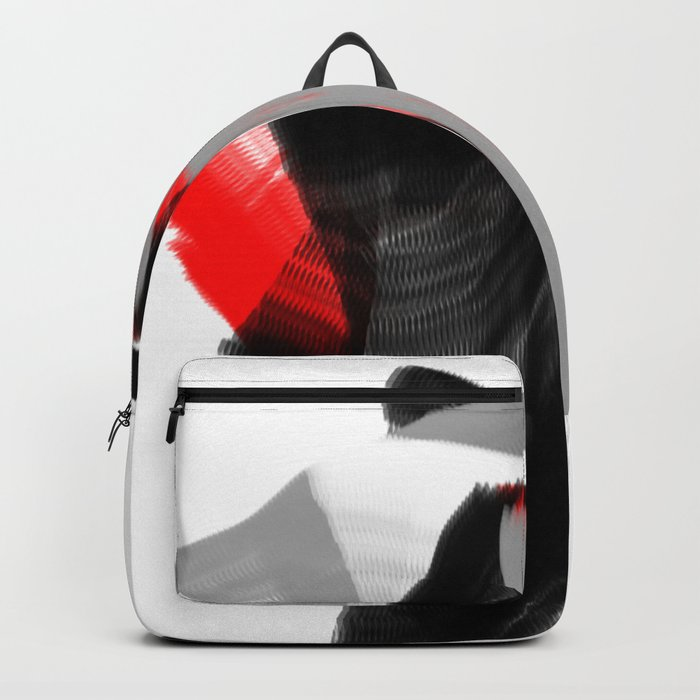 dancing abstract red white black grey digital art Rucksack