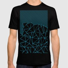 Ab Lines 45 Electric Black MEDIUM Mens Fitted Tee