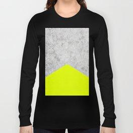 Concrete Arrow - Neon Yellow #521 Long Sleeve T-shirt