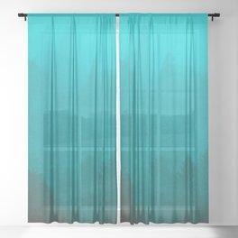 PNW Fog Forest Sheer Curtain