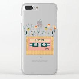 Nectarine Botanical Mixtape Clear iPhone Case