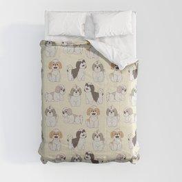 Cute Shih Tzu Dog Pattern Comforters