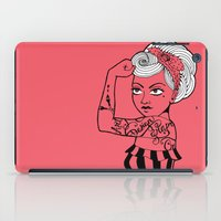 girl power iPad Cases featuring Girl power ! by cakelab