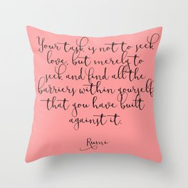 Love by Rumi Throw Pillow