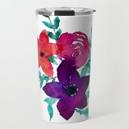 Floral Burst Travel Mug