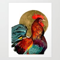 cock Art Prints featuring Cock by Janie Stapleton