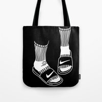 nike Tote Bags featuring NIKE by Anna Berger