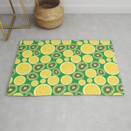 Lemon and Kiwi Pattern Rug