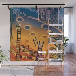 Time through Time, from Caves to Skyscraper, from Organic to Geometric Wall Mural