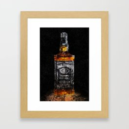 Jack Daniels Whiskey Wall Art, Print, Home Decor, Dorm Decor, Impressionism Framed Art Print