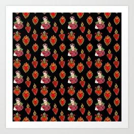 Sacred Hearts and Frida Art Print