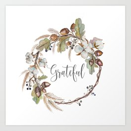 Grateful pillow Art Print