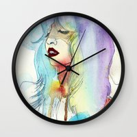 melissa smith Wall Clocks featuring Melissa Stastiuk by Bea Barnachea