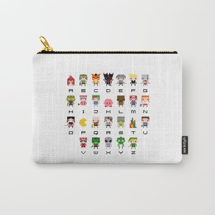 Video Games Pixel Alphabet Carry-All Pouch