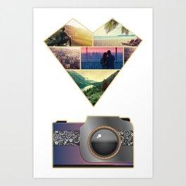 I Love Photography Art Print