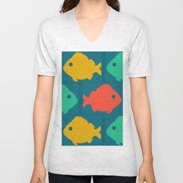 colourful fishes Unisex V-Neck