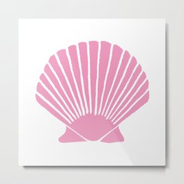 Light Pink Seashell Metal Print