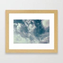 Soft Dreamy Cloudy Sky Framed Art Print