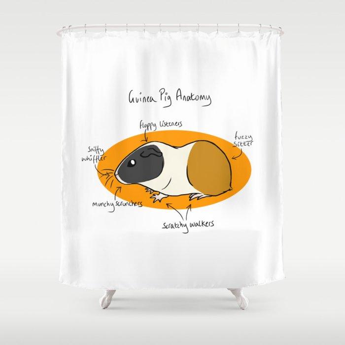 Guinea Pig Anatomy Shower Curtain