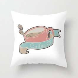 Coffee in Love - Pastel Throw Pillow